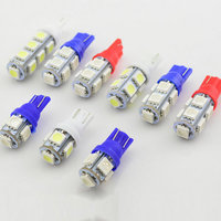 10 x T10 LED Car light source 5 SMD 5050 interior light marker lamp 12V wedge parking light auto W5W