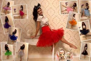 Image 2 - 15 Colors Puffy A Line Ruffles Knee Length Petticoat Underskirt Crinoline For Wedding Dress Accessories