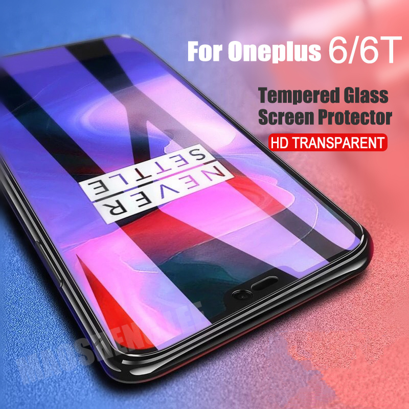 2pcs/lot Full Tempered Glass For Oneplus 6 6T Glass Screen Protector