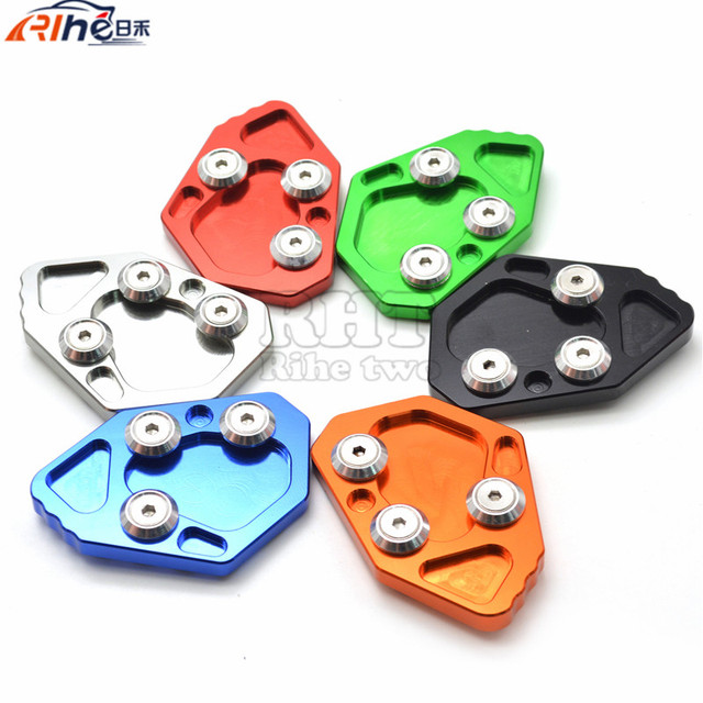 Motorcycle stand motorbike Kickstand Aluminum Side Stand Plate Enlarge caballete For BMW F800R 2009 2012 2013  sc 1 st  AliExpress.com & Aliexpress.com : Buy Motorcycle stand motorbike Kickstand Aluminum ...