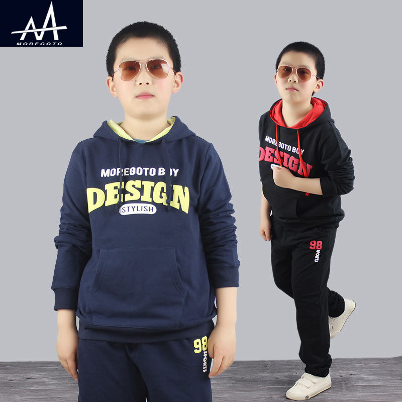 Spring New Casual Boy Tracksuit Pullover Jogging Set Childen Hoodies Sweatpants Sports Suit Size 9-12T Children`s Clothing Set