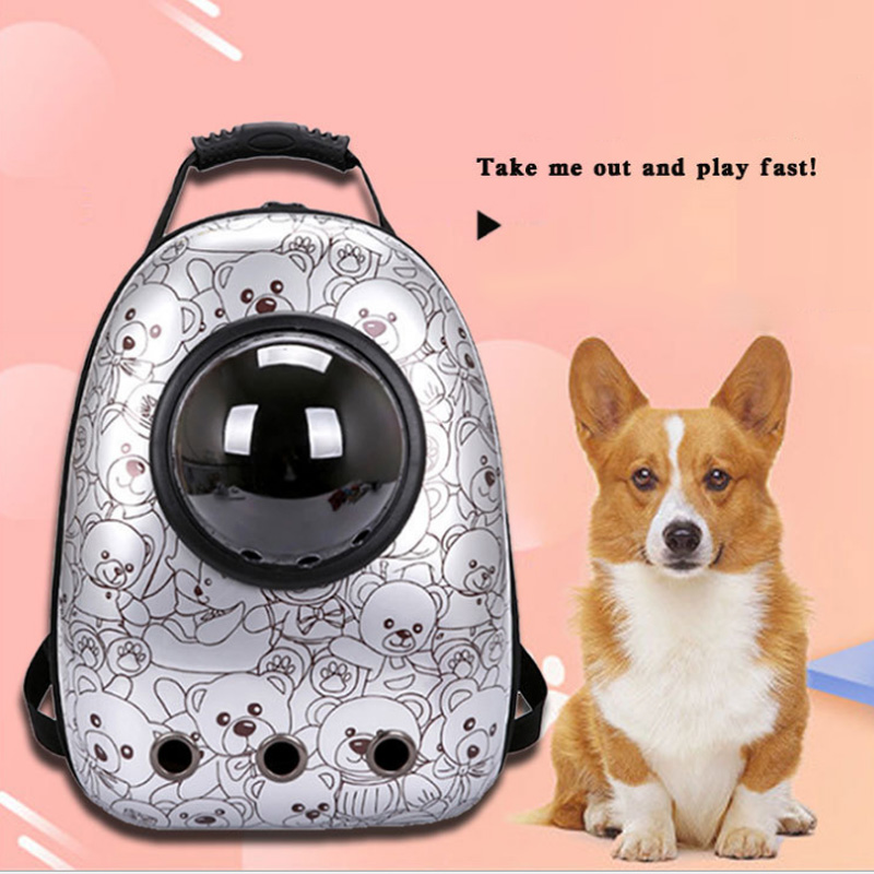 Space Capsule Pet Carrier <font><b>Backpack</b></font> Waterproof for Cat Small Dog SDF-SHIP image