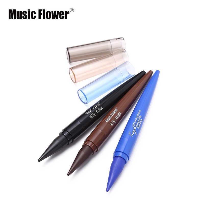 音楽花ブランド Kajal アイライナージェル黒青アイライナークリーム化粧鉛筆長期的な防水スモーキーアイズステッカー化粧品ペン