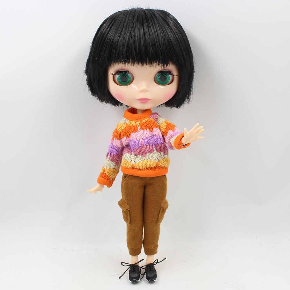 Обнаженная кукла Blyth мужской мальчик шарнир тело натуральная кожа черная прическа с челкой подходит для изменения BJD завод Blyth No. BL9601