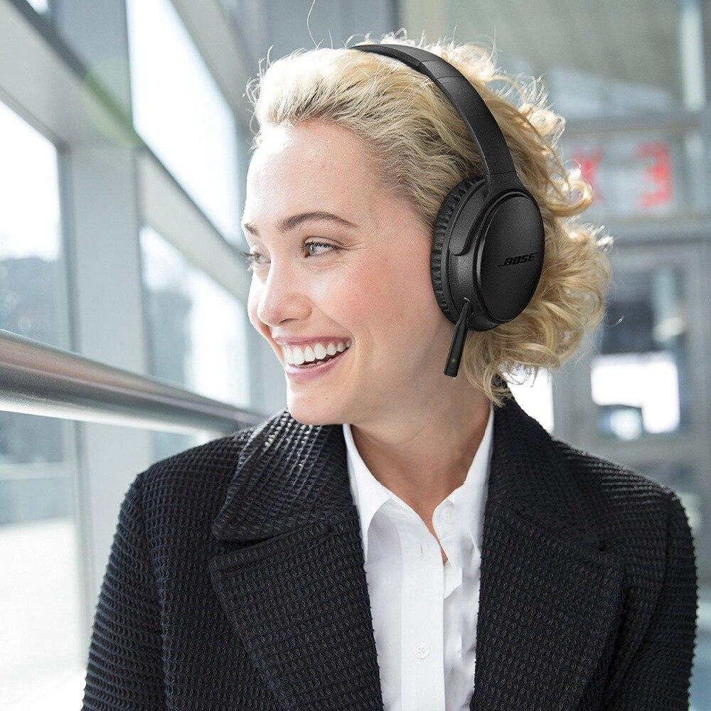 Bluetooth 5.0 mains libres adaptateur sans fil 2.5mm mini récepteur audio stéréo pour Bose Quiet Comfort 25 QC25 Casque avec clip