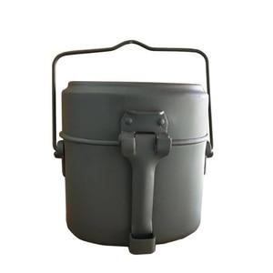 Image 1 - Ordu yemek kabı 3 adet 1 açık kamp seyahat sofra takımı İkinci dünya savaşı almanya askeri kamp yemek kiti kantin su isıtıcısı Pot gıda fincan kase