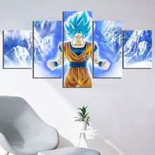 Goku Dragon Ball Anime 5 Piece Modern Home Decor HD Print Wall Art Canvas For Living Painting Artwork