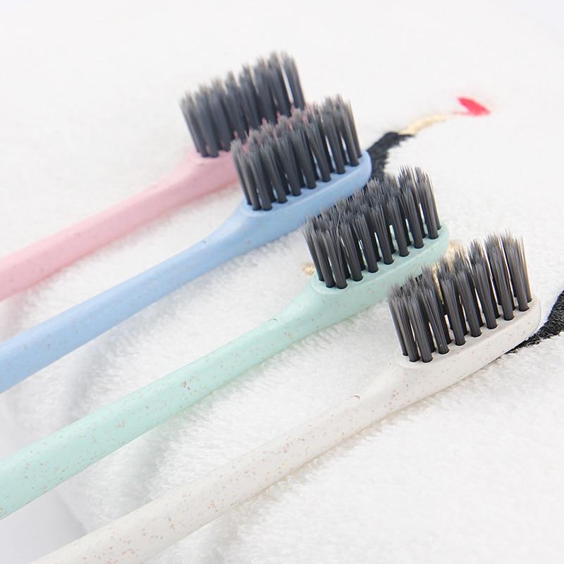 Mundhygiene Schönheit & Gesundheit 10 Teile/satz Weiches Haar Bambuskohle Zahnbürste Weizen Stiele Zahnbürste Für Erwachsene Home Reise Verwenden Sswell SchöNer Auftritt