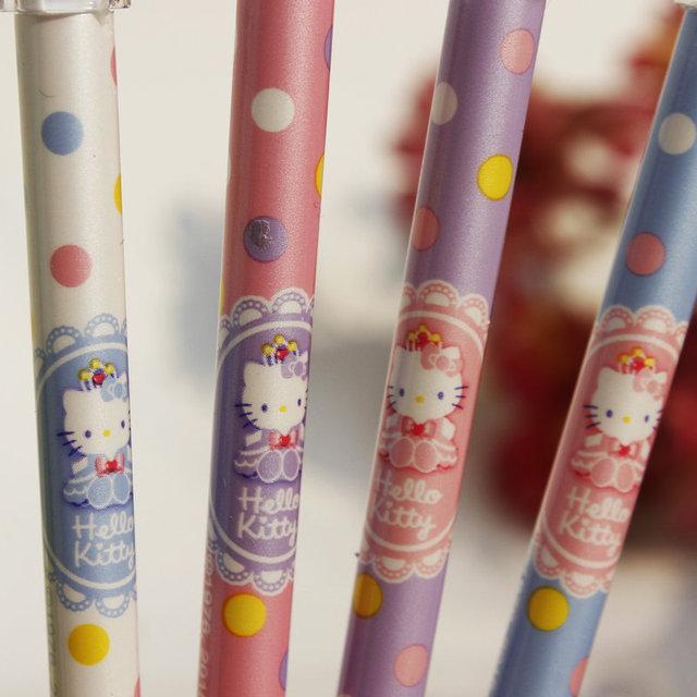 2 pcs Hello Kitty Crystal Cap Gel Pen