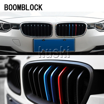 Auto Car-styling Front Grille Stickers For BMW E46 E39 E60 E36 E90 F30 F10 E34 E53 F20 E30 X5 E53 M3 M4 X Z Series M Accessories image