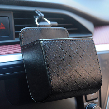Car Organizer Box Bag Air Outlet Dashboard Hanging Leather Box for Audi all Mercedes-Benz BMW Mini One Cooper image