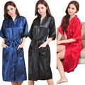RB009  Large Size Sexy Silk Satin Robe Bathrobe Dressing Gowns For Women Perfect Bridesmaid Robes Nightgown for Bride and Lovers