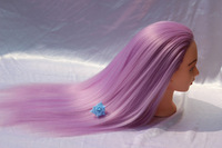 Purple Hair Mannequin Heads Hairdressing Training Practice Head Hair Styling Mannequins Doll Heads