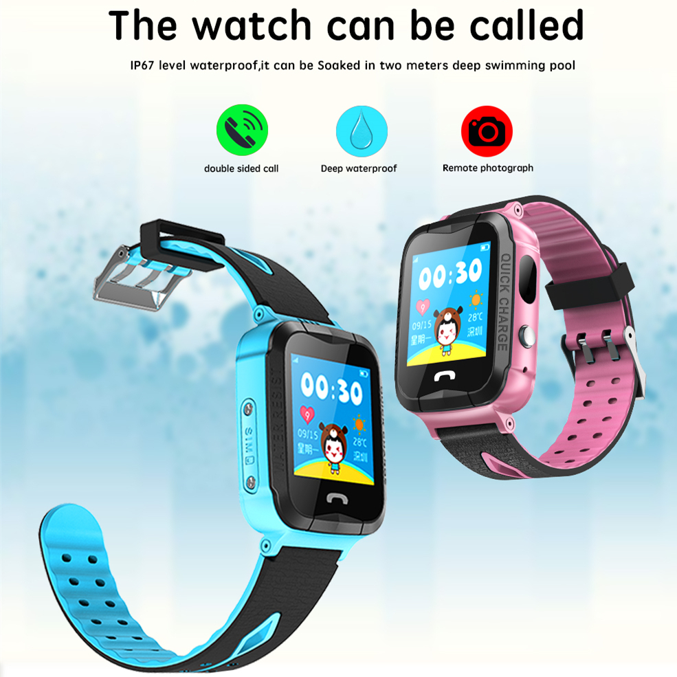 ZGPAX V6G GPS Phone Positioning Children Kids Smart Watch SOS Kids safe with SIM Card Slot LED flashlight PK Q90 Q80 Q750 Q50