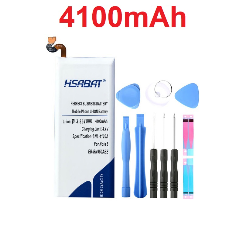 HSABAT 4100mah-Battery Note8 Samsung Galaxy N9500 For Note8/Note/8/..