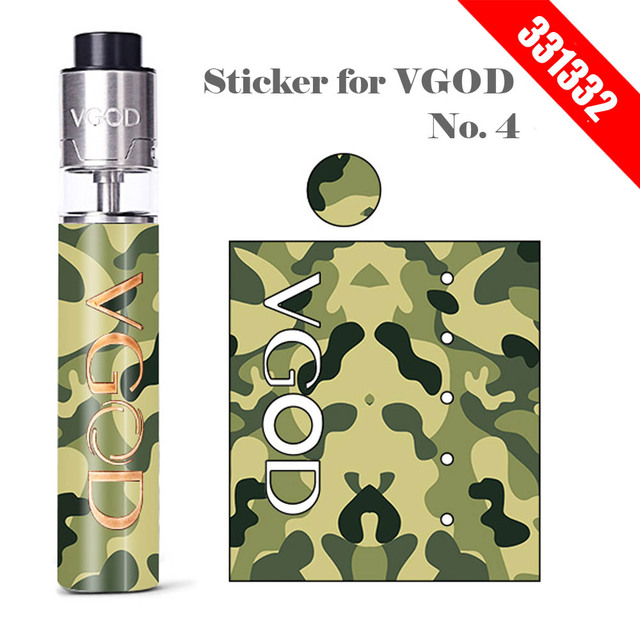 Original 331332 skin for vgod pro mech mod sticker vgod logo powered by single 18650 battery