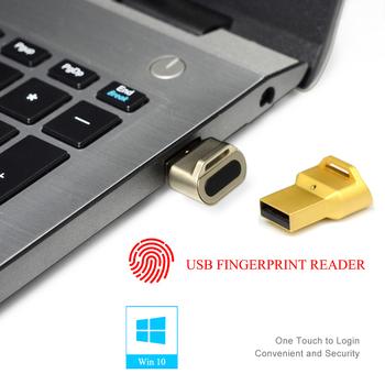 Czytnik linii papilarnych USB rozpoznawanie urządzenia dla Windows 10 hello biometryczny interfejs zabezpieczenia klucza USB tanie i dobre opinie BADODOSECURITY AI100
