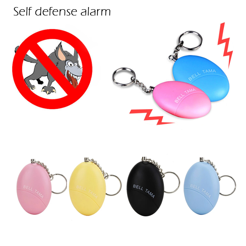 Egg Shape Personal Safety Self Defense Alarm Loud Keychain For Girl Women Anti-Attack Anti-Rape Security Protect Alert Scream egg shaped keychain self defense alarm female anti attack anti rape security protect alert safety scream loud alarm tool 120db