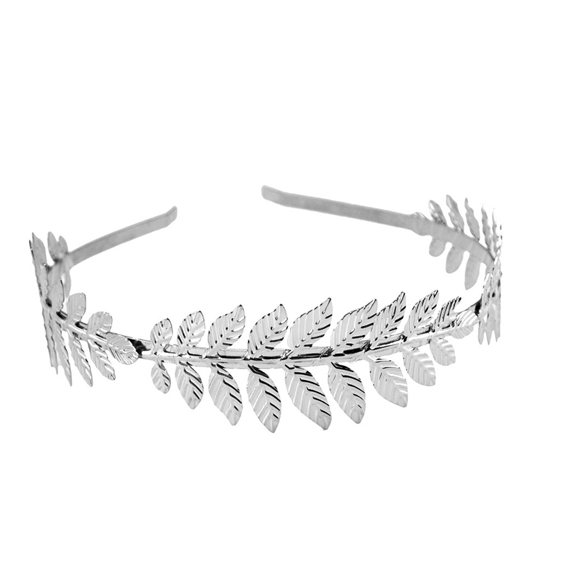 LNRRABC Fashion Women Elegant Baroque Style Metal Leaves Headband Bridal Charm Hair accessories Hairband 4