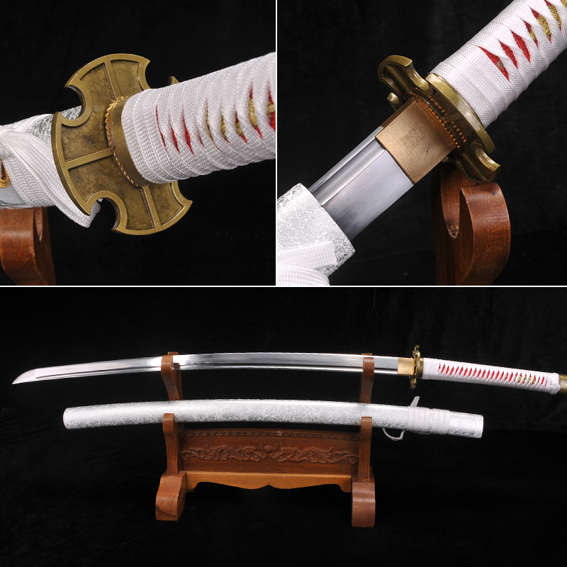 ONE PIECE Sword Japanese Sword Fully Hand made Spring Steel Full tang Blade Samurai Sword Funcatoinal Real Katana