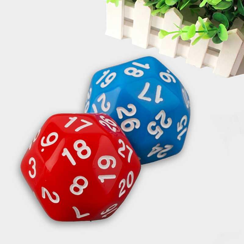 1 шт. 30 сторонние кости 6 цветов красный синий зеленый черный белый высококачественные пластиковые кубики игрушечные кубики для детей
