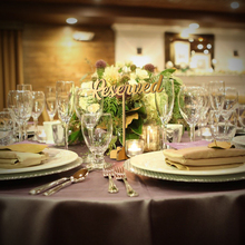 купить 5p Reserved Sign Reserved Wedding Sign Freestanding Reserved Table Sign Wood Reserved Table Sign Wedding decor table 7 in. tall дешево