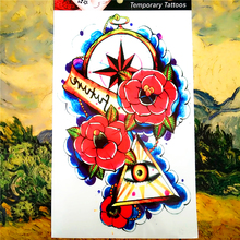 Future Eye Temporary Tattoo Body Art, 12*20cm Flash Tattoo Stickers, Waterproof Fake Tatoo Henna Tatto Wall Sticker