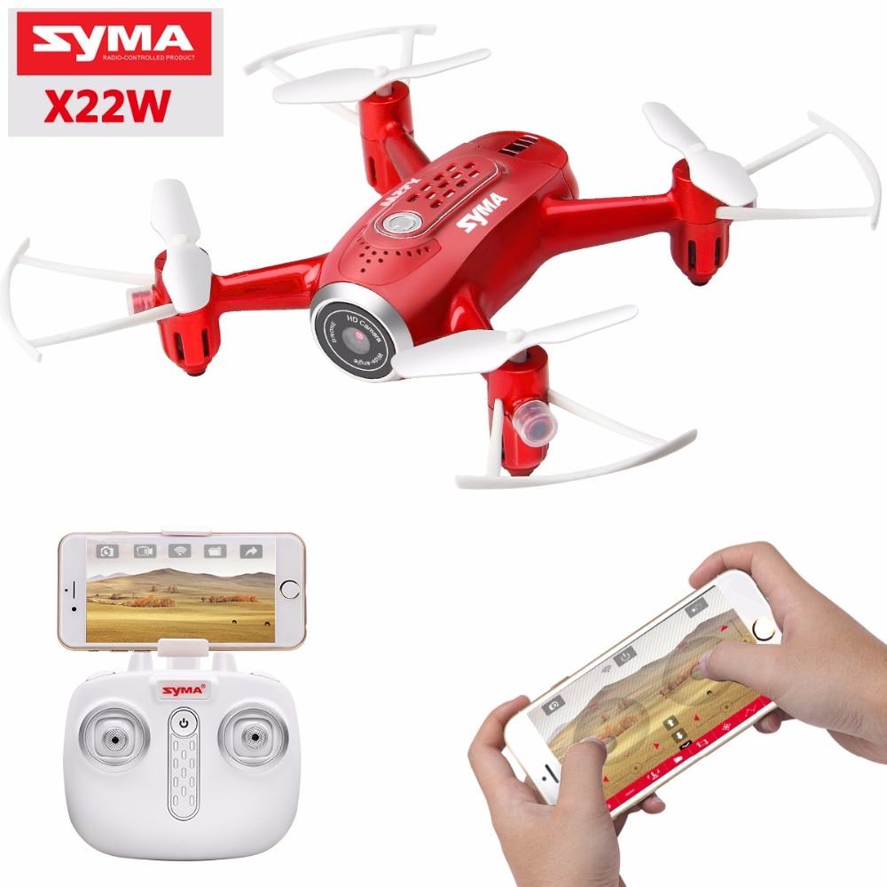 Новейшие дроны X22W с камерой FPV Wifi в реальном времени 2.4GH 4CH Безголовый режим функция зависания RC Квадрокоптер Дрон красный цвет