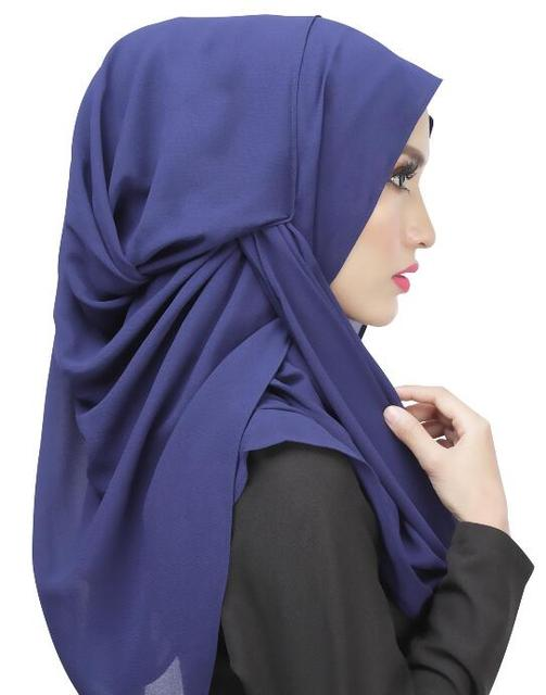 easy hijab hang one instant fancy hijab scarf khaleeji plain color  headwrap  free ship