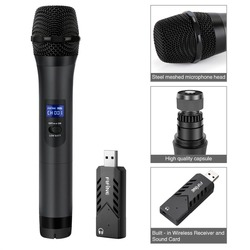 FIFINE Handheld Dynamic Microphone with USB Receiver for Laptop or PC Phone PAD for Software Recording K026