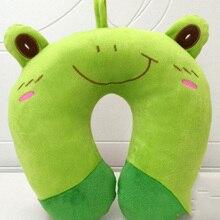 New arrival  high quality U shaped  comfortable cartoon animal pillow  Plush U type neck protecting air plane travel nap pillow