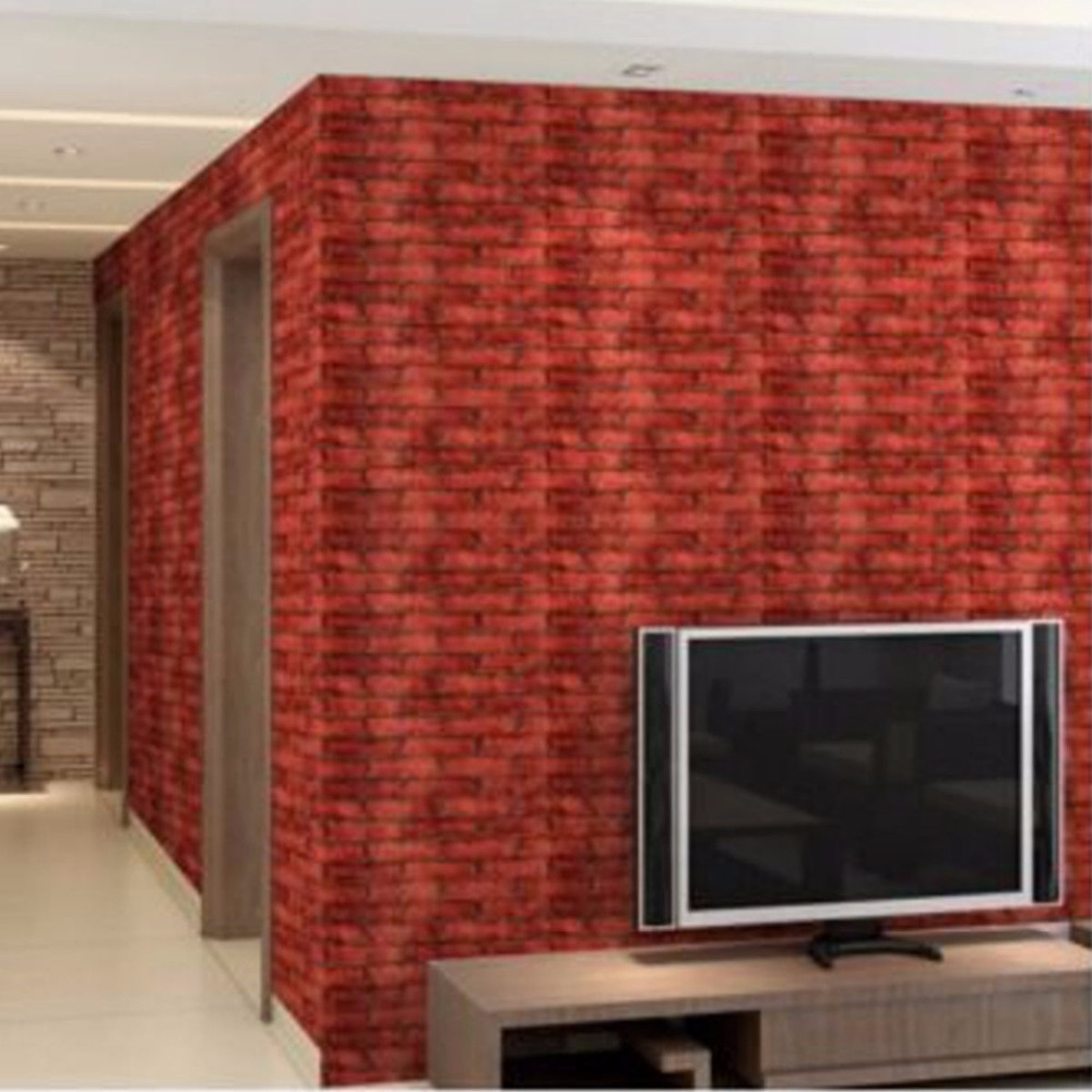 Europe Modern Brick Stone Style 3D Wallpaper For Living Room Vinyl Wall Paper Background Wall Sticker Parlor Mural Home Decor fashion black white wood textured brick wallpaper for living room bathroom waterproof vinyl wall paper modern home decor r568