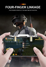 PUBG Mobile Cell Phone Game Controller Fire Button Key Gamepad Shooter Trigger(China)