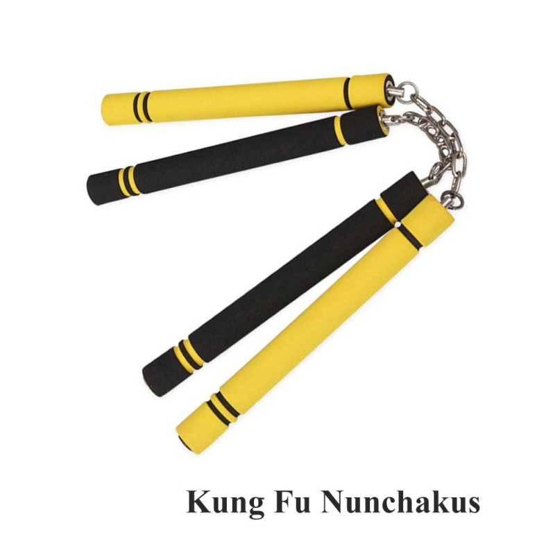 Children Teen Kung Fu Nunchakus Martial Arts Safety Foam Nunchakus Sponge Double Truncheon With Stainless Steel Chain