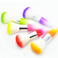 High Quality Fashion Colorful Nail Art Dust Cleaner Brushes Tool For Acrylic UV Gel Powder Remover Kit Beauty Makeup Brush Sets Health & Beauty
