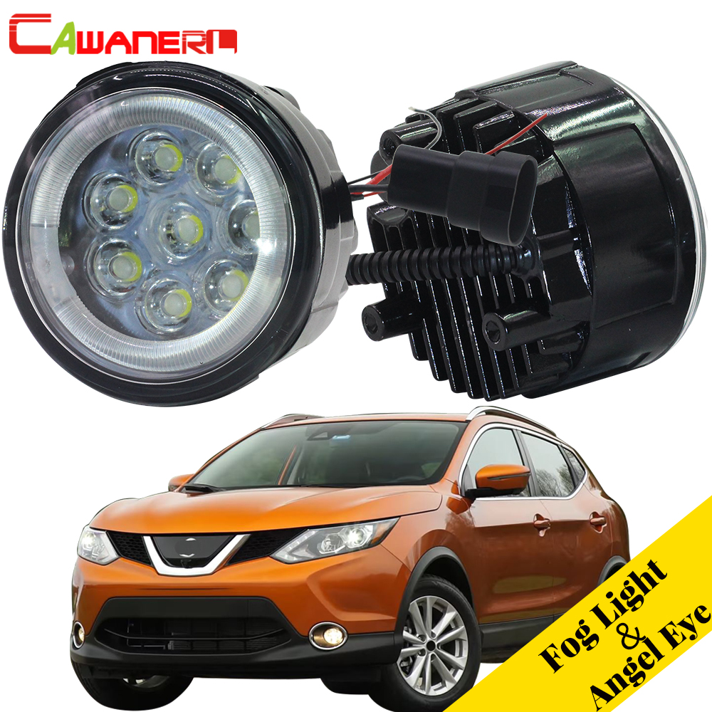 Cawanerl For Nissan Rogue 2010 2011 2012 2013 2014 Car Styling Fog Light LED Angel Eye Daytime Running Light DRL 12V 2 PiecesCawanerl For Nissan Rogue 2010 2011 2012 2013 2014 Car Styling Fog Light LED Angel Eye Daytime Running Light DRL 12V 2 Pieces