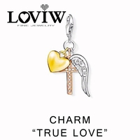 Cross Heart Wing Charm Women Style Charm Party Good Jewelry For Ladies 2017 NEW Valentine S