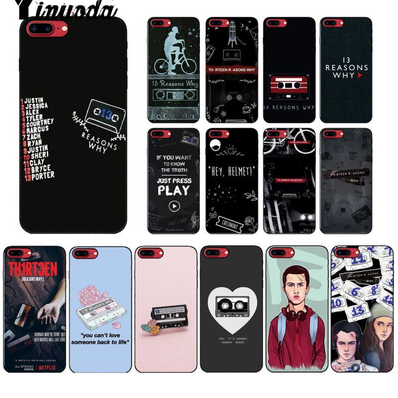 Yinuoda <font><b>13</b></font> <font><b>reasons</b></font> <font><b>why</b></font> netflix TPU Soft Silicon Black <font><b>Phone</b></font> <font><b>Case</b></font> for Apple iPhone 8 7 6 6S Plus X XS MAX 5 5S SE XR Mobile Cover image