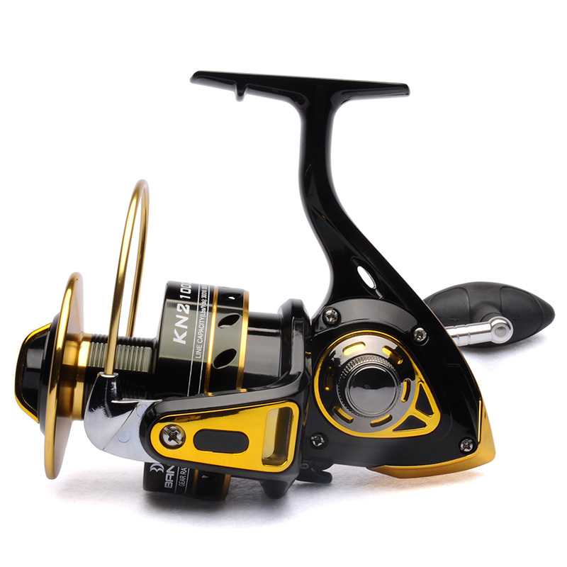 Big game fishing reel spinning reel 10000 11BB 4.2:1 front drag BANDO KN2 Black/Gold saltwater fishing tackle-in Fishing Reels from Sports & Entertainment    1