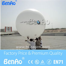 AO115  Free shipping+printing  Inflatable white Helium balloon for advertising/inflatable sky helium balloon for advertising
