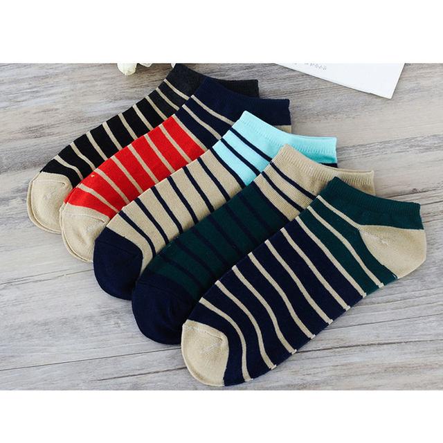 Hot Summer men's striped boat socks Invisible breathable men socks fashion casual wholesale