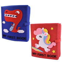 DIY High Quality My First Book 22 Pages For Baby Early Learning Toys Felt Quiet Book Special Gift Mom Handmade Felt DIY Package