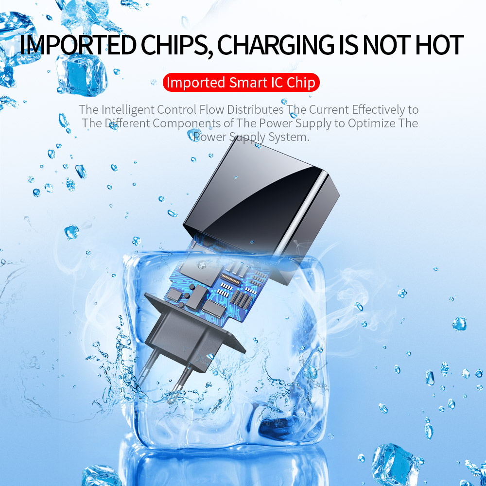 Image 2 - LED Display EU US 3 Port USB Charger 3A Mobile Phone USB Charger Fast Charging Wall Charger For iPhone 6 Samsung Xiaomi LG-in Mobile Phone Chargers from Cellphones & Telecommunications