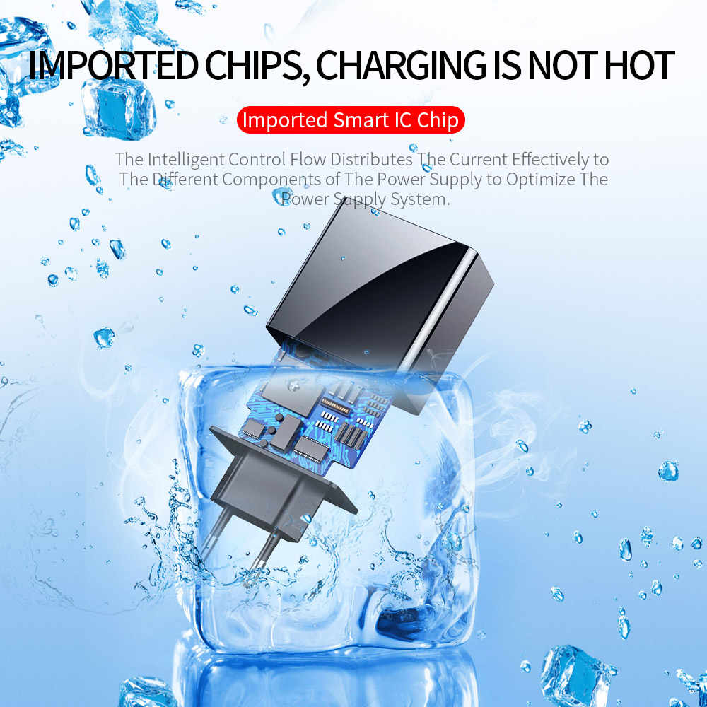 LED Display Uni Eropa US 3 Port USB Charger 3A Ponsel Usb Charger Cepat Pengisian Charger Dinding untuk iPhone 6 samsung Xiaomi LG