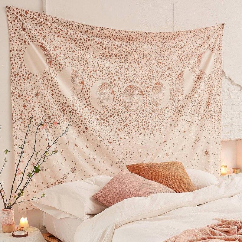 Tapiz para el hogar Mandala Hippie bohemio tapices colgante de pared flor tapiz psicodélico colgante de pared decoración de dormitorio indio