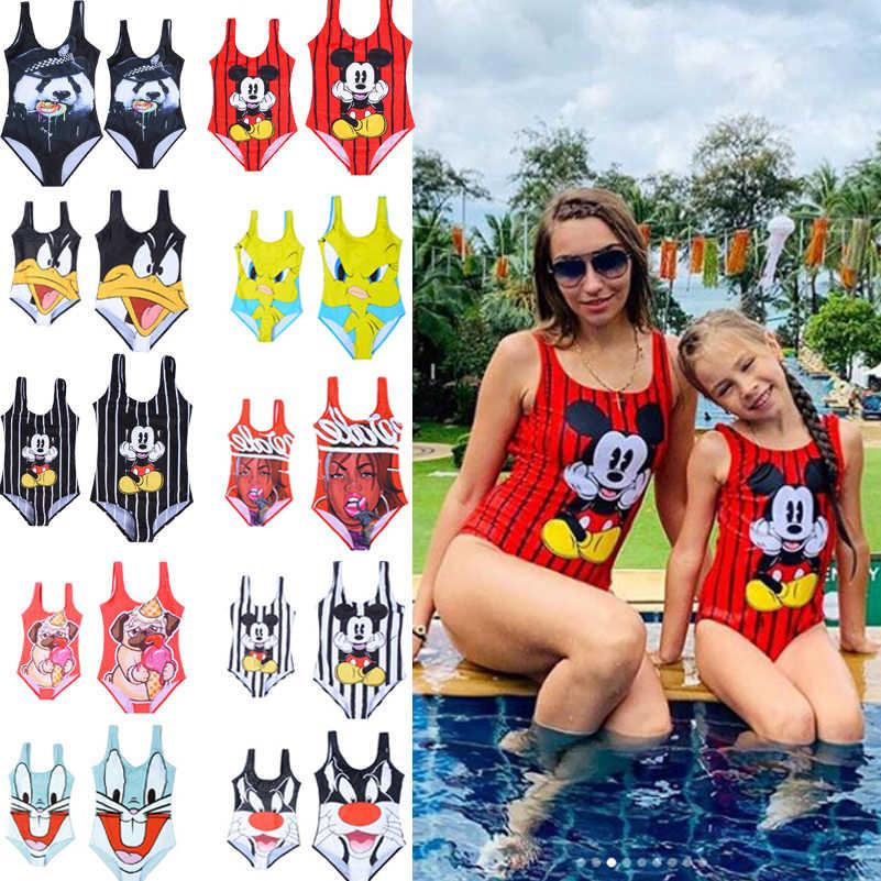 Одежда для купания женский семейный купальный костюм женский купальный костюм, коллекция 2020 года купальный костюм для девочек Цельный купальник-бикини, одежда для плавания