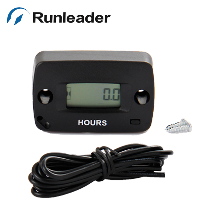 (20 pieces/lot) Resettable Inductive Hour Meter Maintenance reminder Used For Any Gasoline Engine motocross ATV jet ski mower
