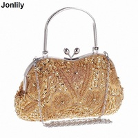 Ethnic Style Handmade Beading Bridal Purse Clutches Women Grace Day Clutches Messenger Bag Wedding Party Dinner Clutches LI 1177