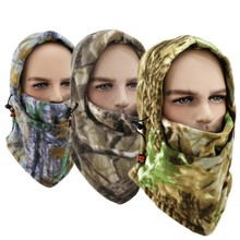 Winter Mouth Face Mask Warmer Neck And Face Camouflage Cap Balaclava Trekking Riding Ski Hunting Thermal Hat Wind-proof Mask
