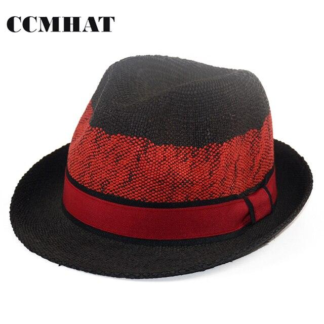 CCMHAT 100% Paper Women Sun Hat Summer Breathable Mens Sun Hat Patchwork  Black Fascinator Hats For chapeau femme Caps 7c0998e18